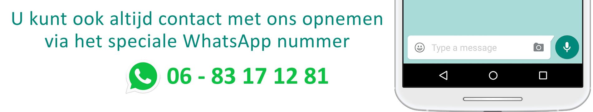Groenmechanisatie Roubroeks: neem contact op via WhatsApp 06 83 17 12 81ng