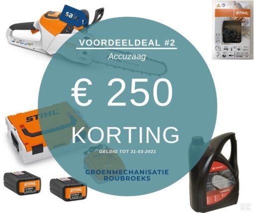 Voordeeldeals bij Groenmechanisatie Roubroeks: pakket DE UITSLOVER met MSA 220